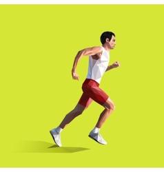 polygonal running man geometric vector image