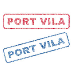 Port vila textile stamps vector