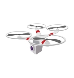 Quadrocopter with camera cartoon icon vector image