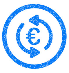 refresh euro rounded icon rubber stamp vector image vector image