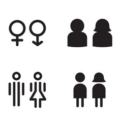 Toilet restroom icons vector