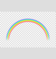 transparent rainbow vector image vector image