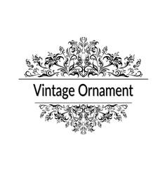 Vintage floral calligraphic ornament vector