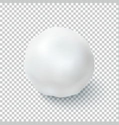 Realistic snow ball isolated on transparent vector