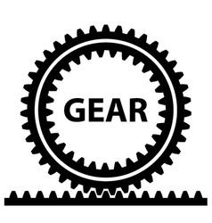 Rack pinion spur gear wheel symbol vector