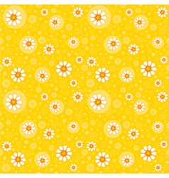 Retro seamles yellow background vector
