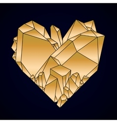 Graphic crystal heart vector image