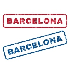 Barcelona rubber stamps vector