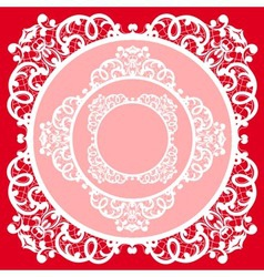 Lace napkin vector