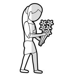 mother female parent with flowers vector image