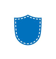 shield icon shape emblem vector image