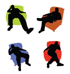 Man sitting in an armchair vector