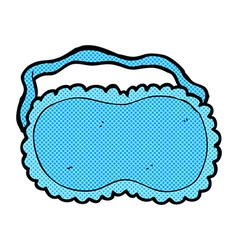 Comic cartoon sleeping mask vector