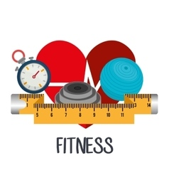Sports fitness design vector