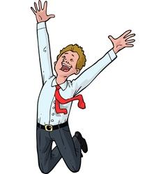Man jumping for joy vector