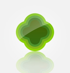 Abstract green icon vector