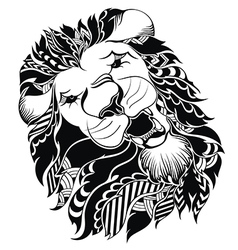 Tattoo leo symbol vector