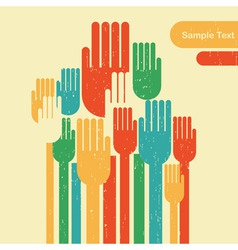 Voting hands vector