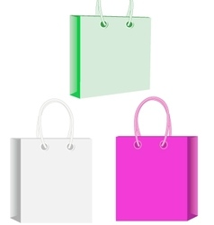 Paper gift bags plastic shopping bag vector