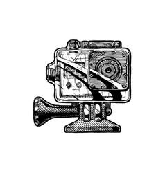 action camera vector image vector image
