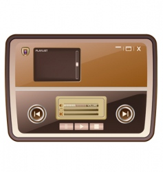 audio media player skin vector image vector image