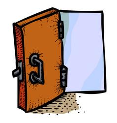 Cartoon image of door icon open door symbol vector