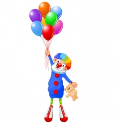 clown and balloons vector image vector image