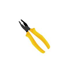 color pliers tool icon vector image vector image