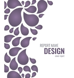 Cover design with drops vector image vector image