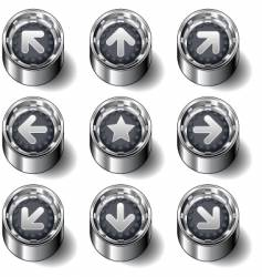direction buttons vector image