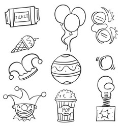 Doodle of ornament circus hand draw vector