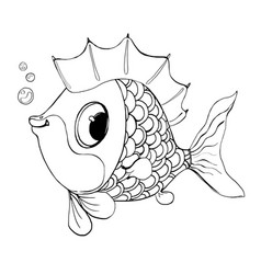 fish from a fairy talegood fish for a vector image vector image