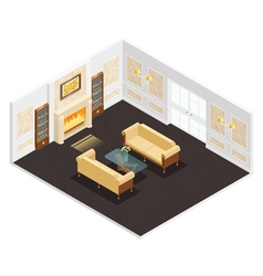Isometric luxury interior vector