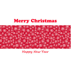 merry christmas poster on red vector image