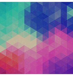 Retro triangle graphic pattern vector image vector image