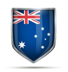 Shield with flag australia vector