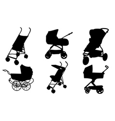 stroller set vector image