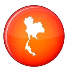 Thailand map icon flat style vector image