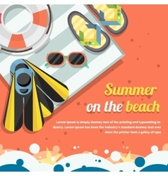 Travel Concept on the Beach Stylish Background vector image