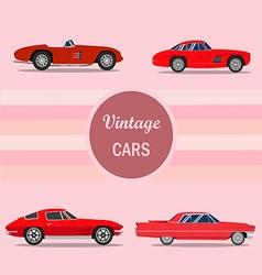 vintage car 02 vector image