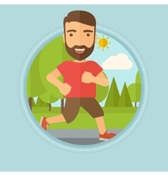 Young man running in the park vector image