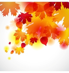 Autumn background with yellow leaves vector image