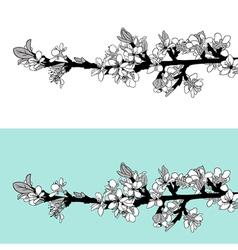 blooming tree twig vector image