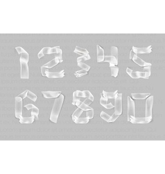 numbers from adhesive transparent tape vector image