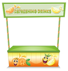A stall for refreshing drinks vector