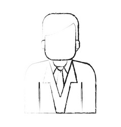 Blurred silhouette half body faceless man with vector