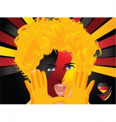 crowd goes wild Germany vector image