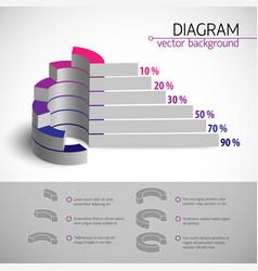 Multicolored diagram template vector