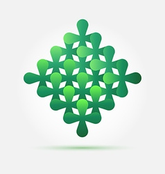 Bright green creative technology icon - abstract vector