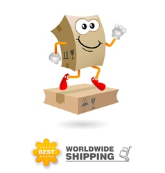 Shipping delivery character vector